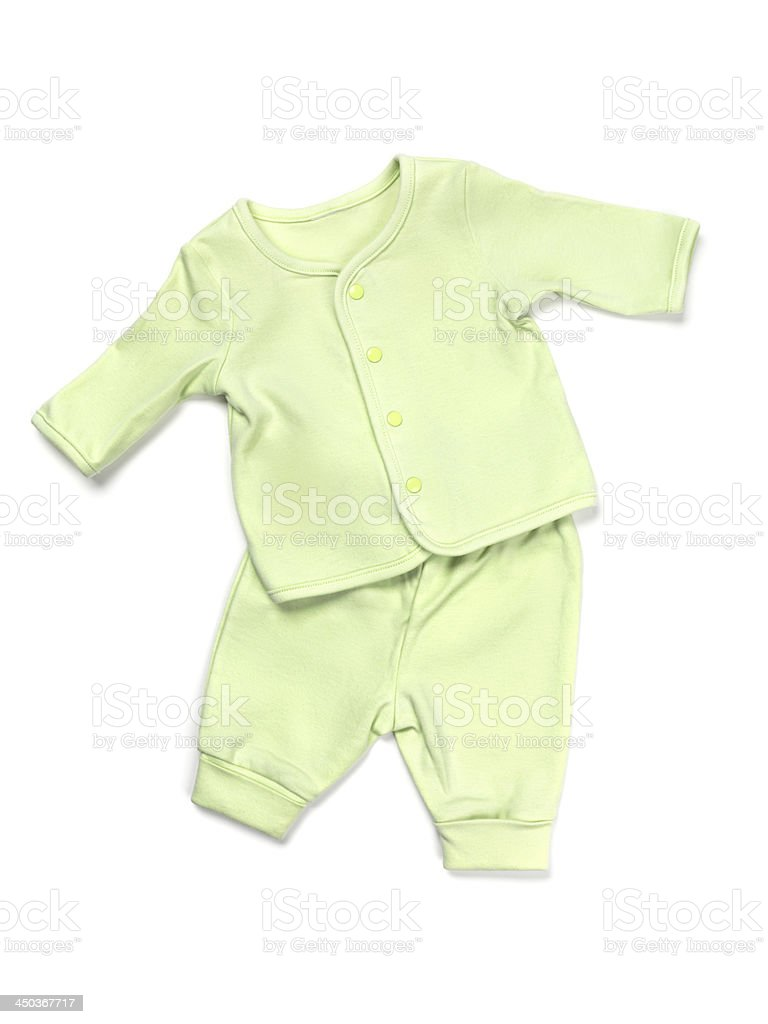 Baby pajama set stock photo