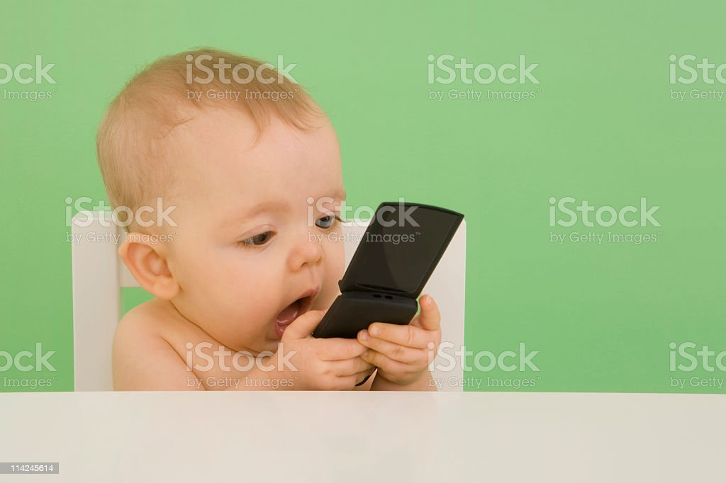 SMS baby stock photo
