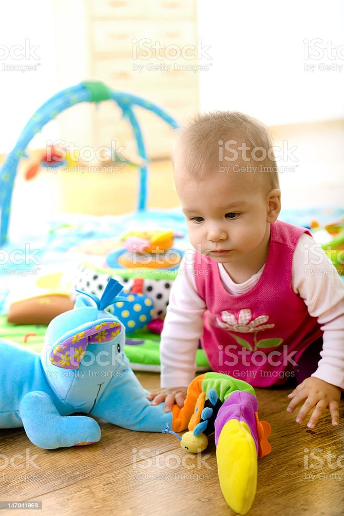Baby playing at home royalty-free stock photo