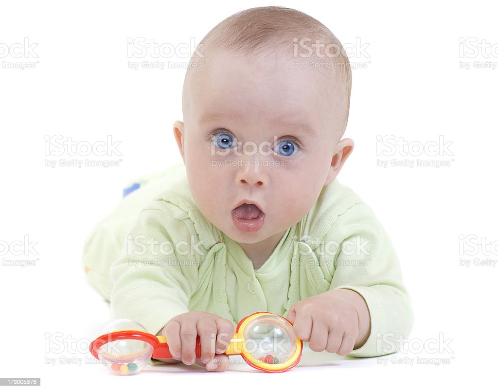 Baby playing royalty-free stock photo