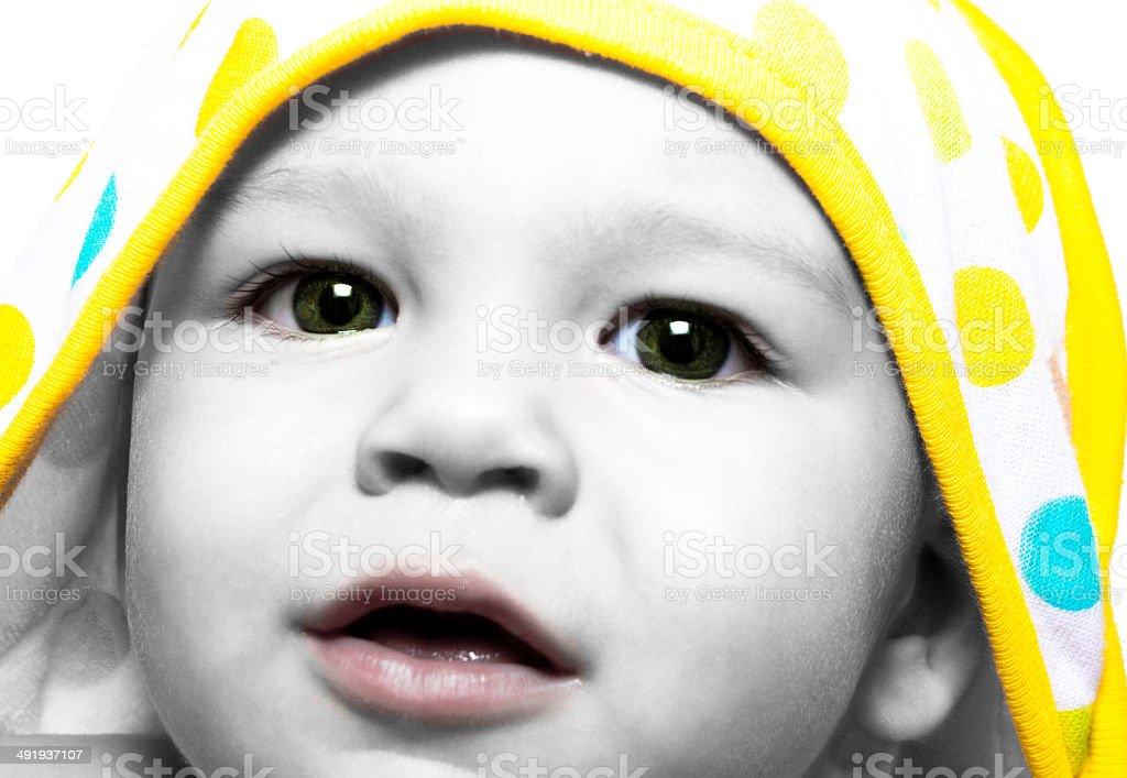 Baby Polka Dot Towel stock photo