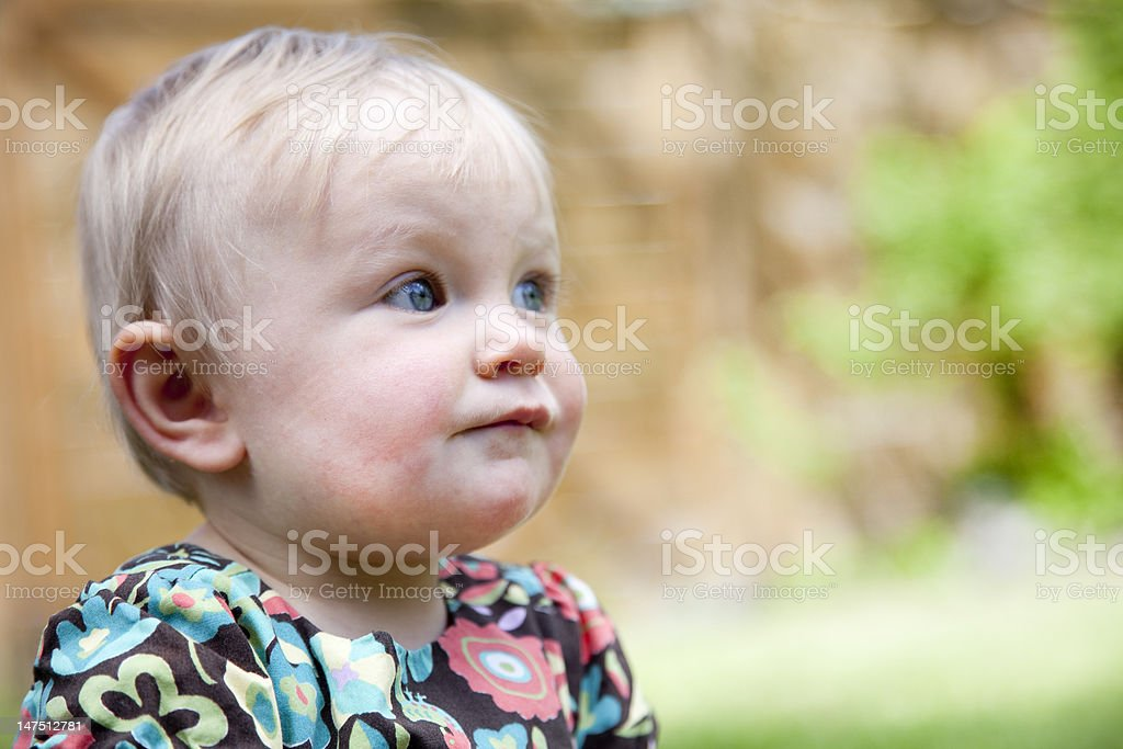 Baby Portrait - one year old stock photo