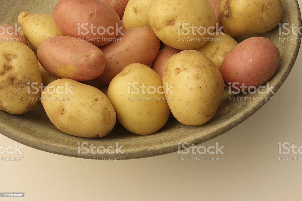 Baby Potatoes-Top of Frame royalty-free stock photo