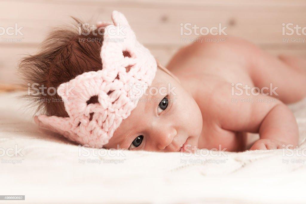 Baby princess stock photo
