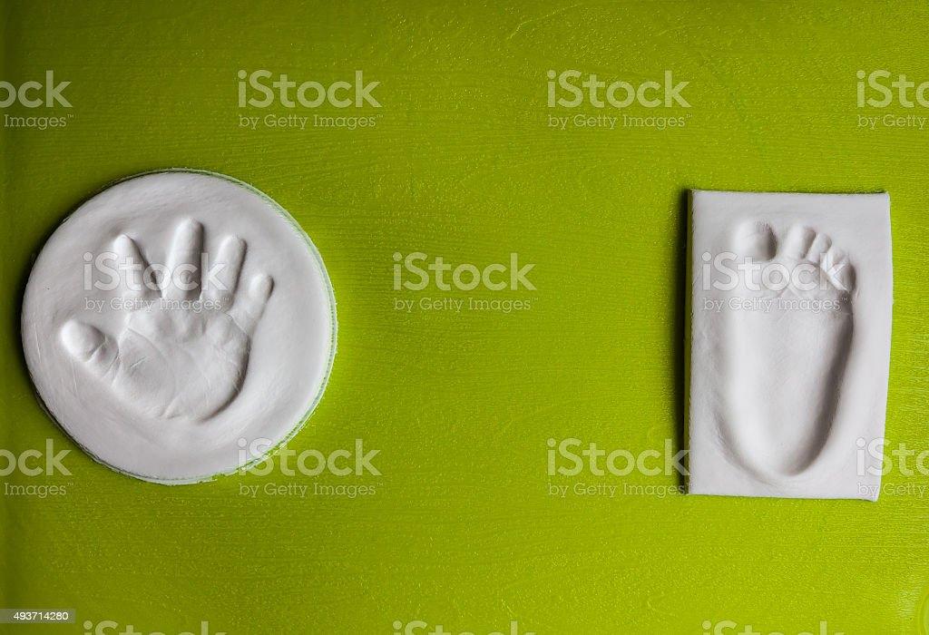 Baby prints stock photo