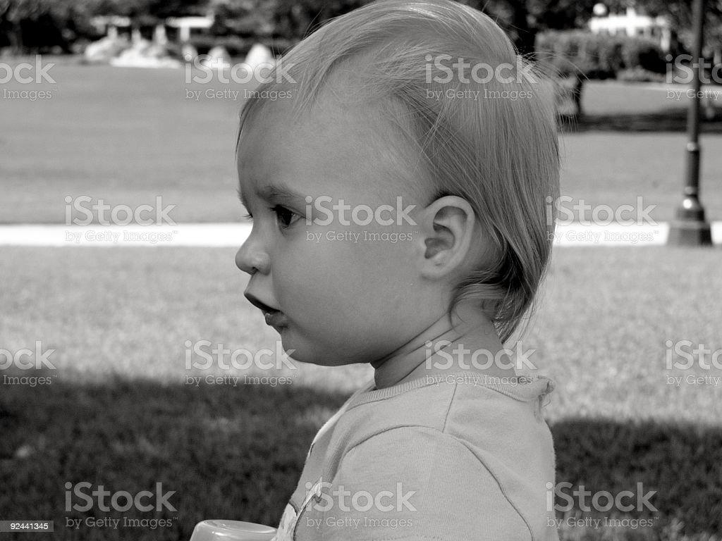 Profil de bébé photo libre de droits