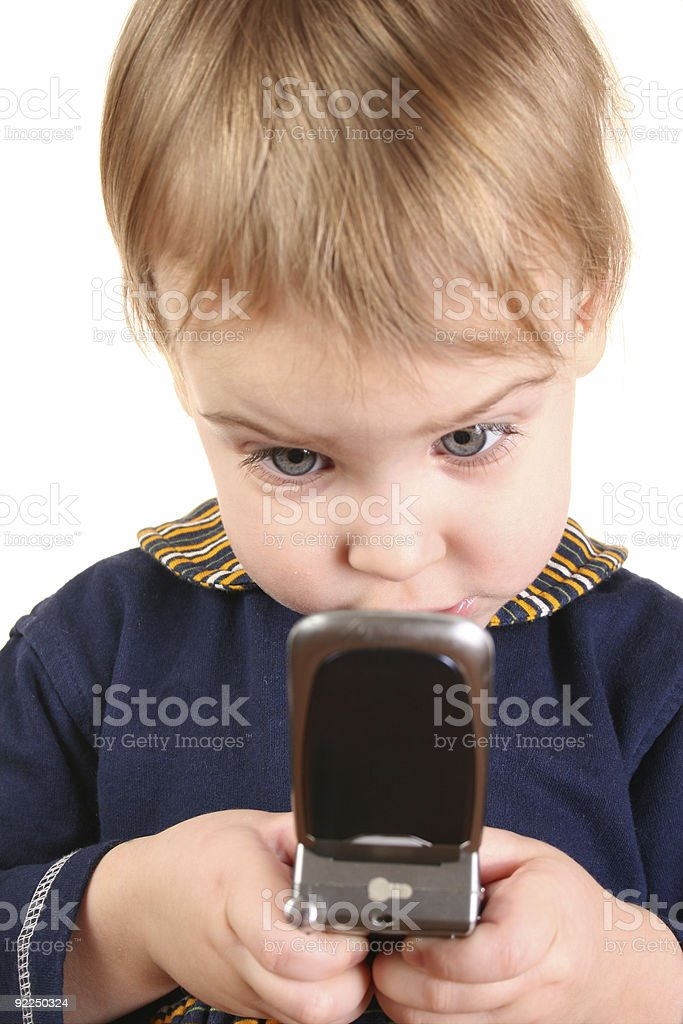baby push phone stock photo