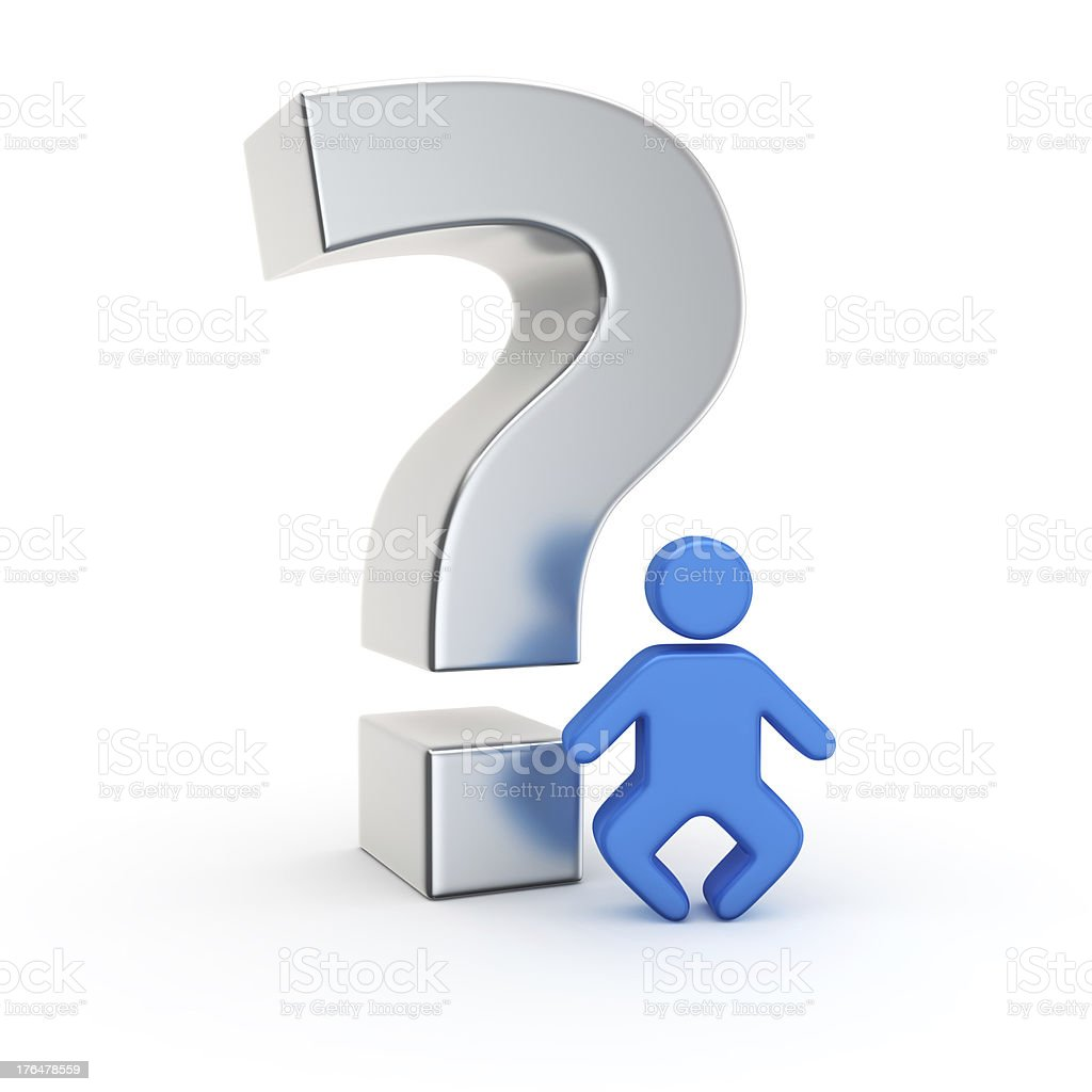 Baby question stock photo
