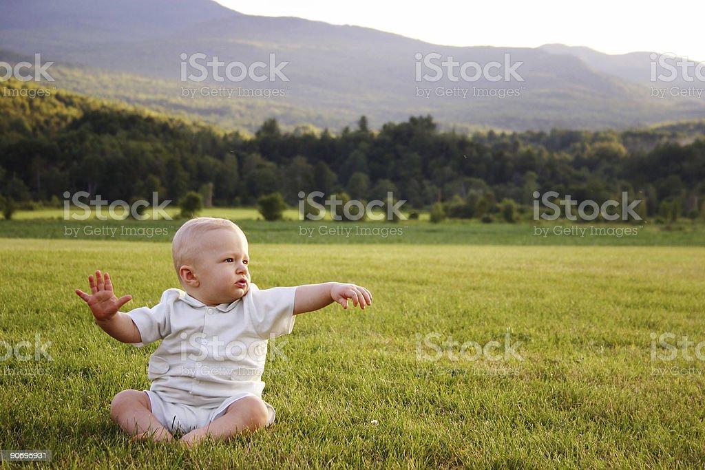 baby reaching royalty-free stock photo