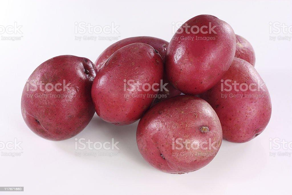 Baby red potatoes stock photo