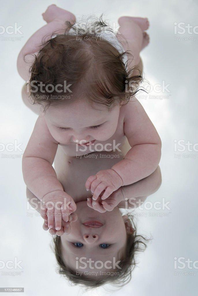 Baby Reflection royalty-free stock photo