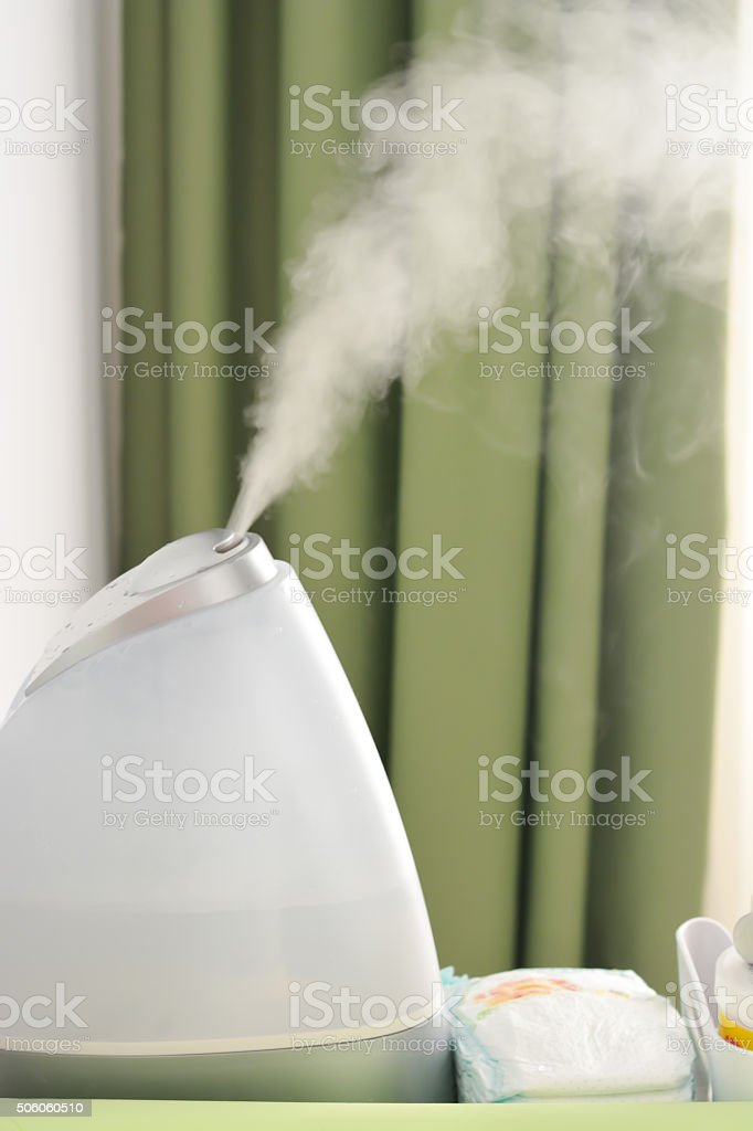 Baby room air humidifier stock photo