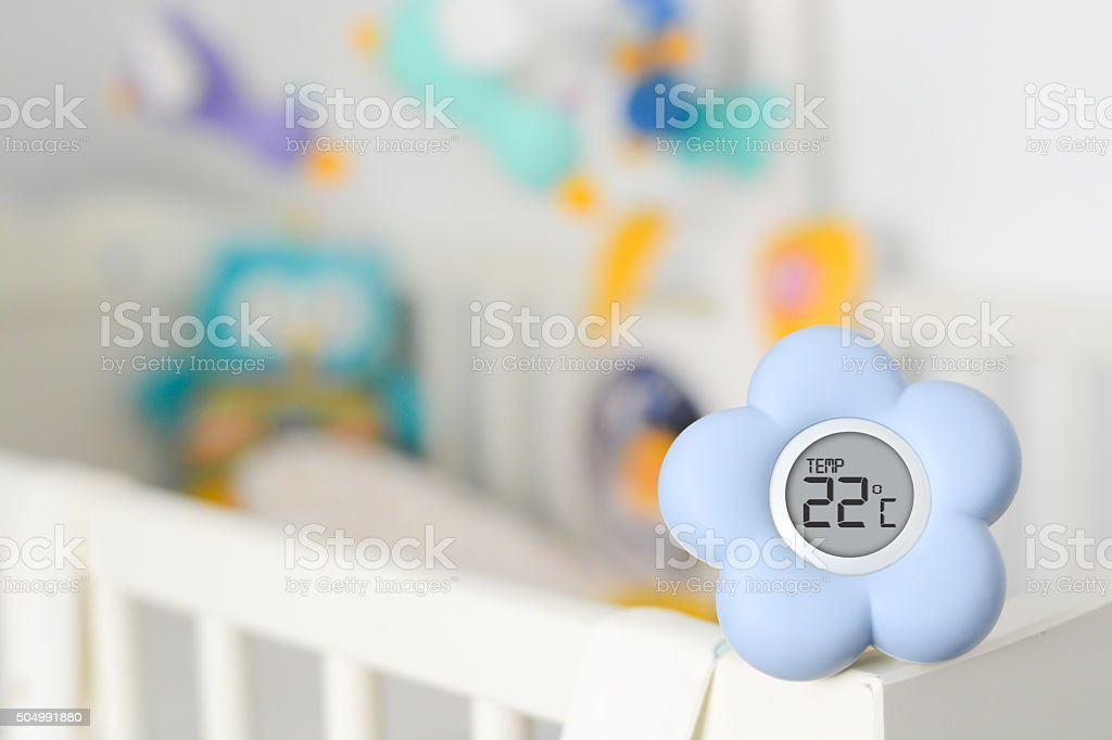 Baby room temperature monitor stock photo
