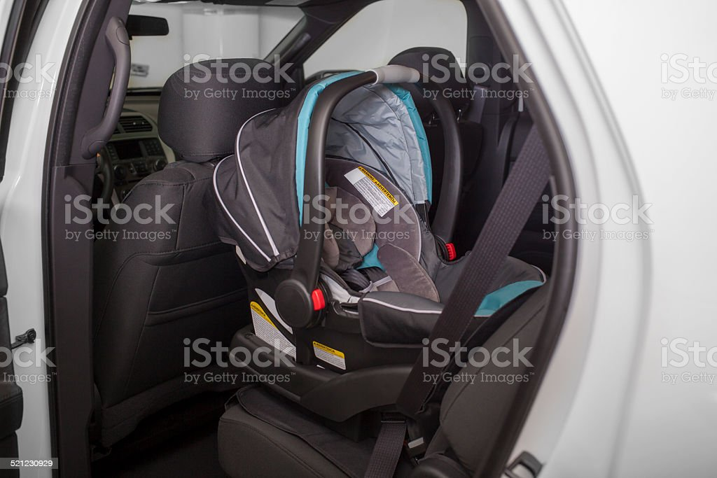 Baby Seat in Car stock photo