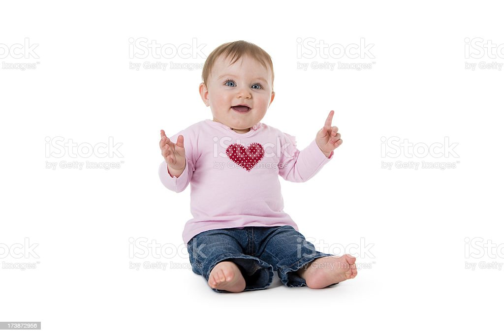 Baby series. i love pink royalty-free stock photo