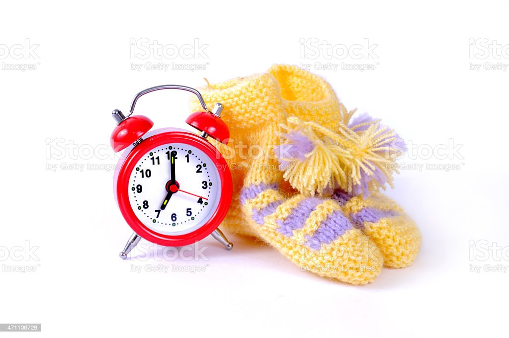 baby shoe and time royalty-free stock photo