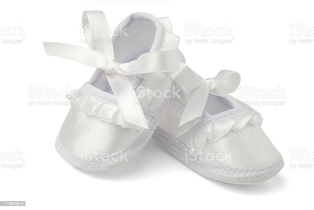Baby Shoes Isolated on White with Clipping Path royalty-free stock photo