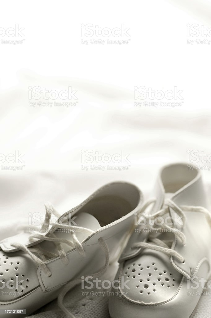 Baby Shoes on Blanket royalty-free stock photo