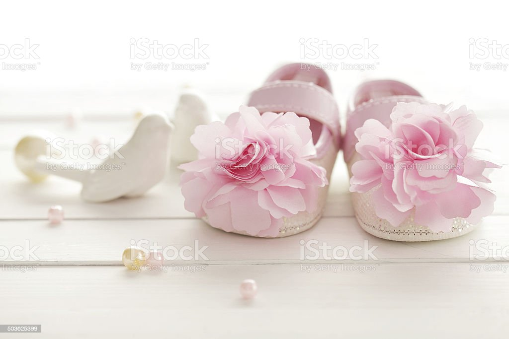 baby shoes stock photo