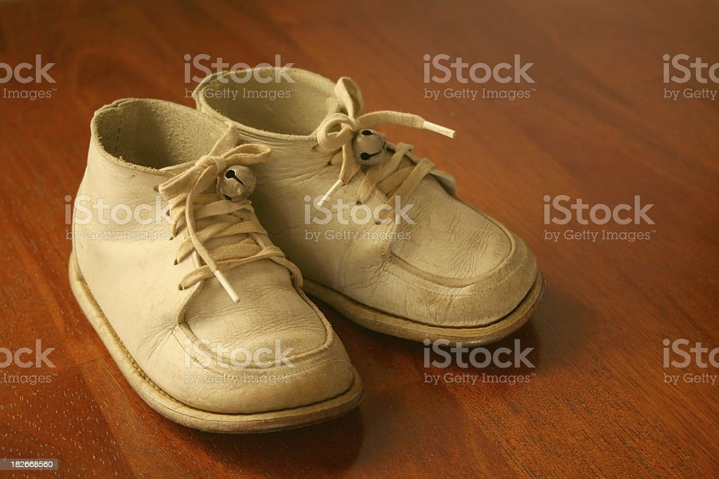 Baby Shoes Together royalty-free stock photo