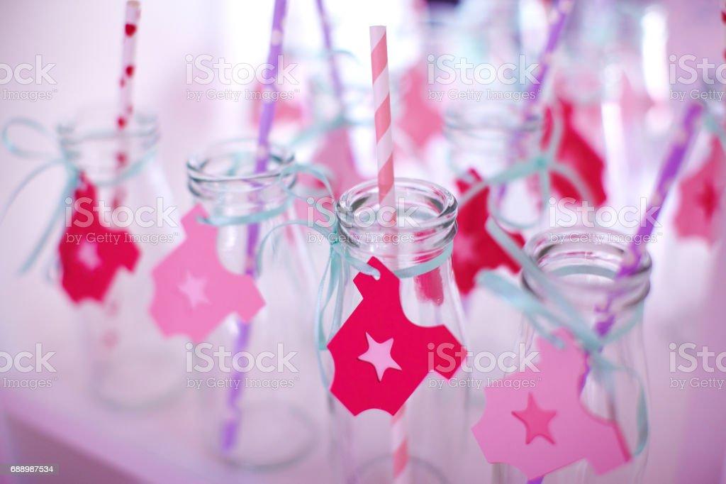 Baby shower celebration decoration. stock photo