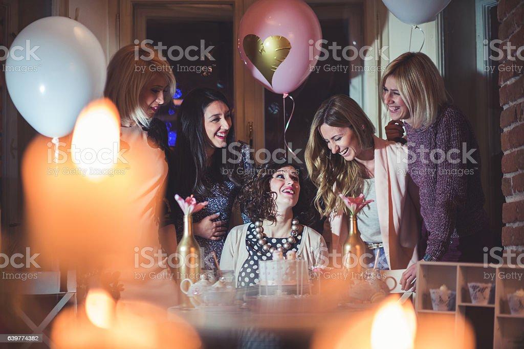 Baby shower celebration stock photo