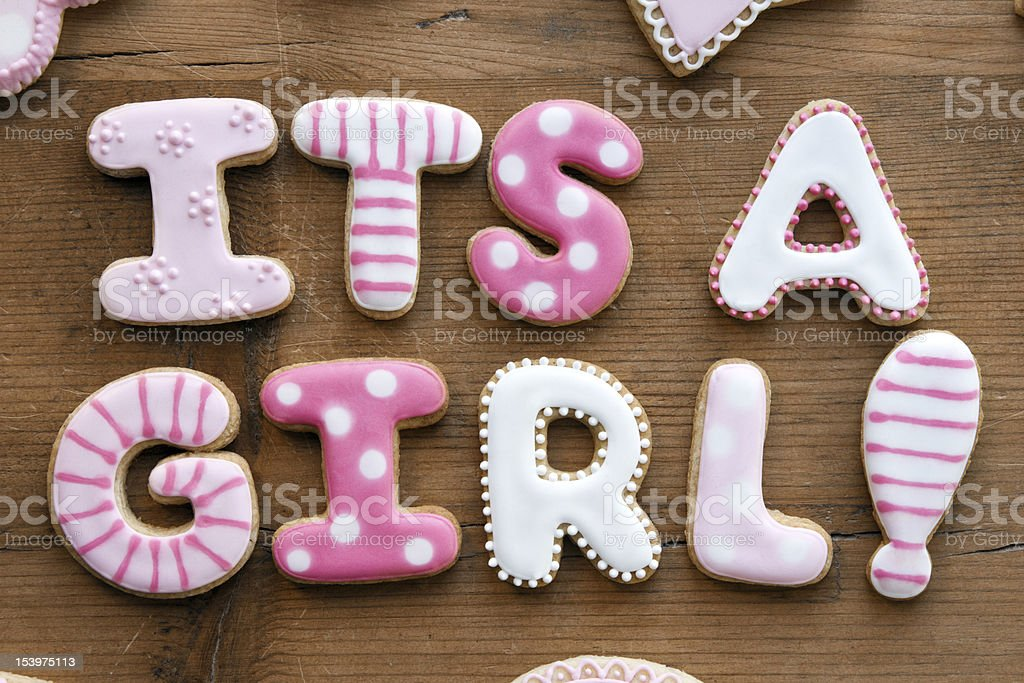 Baby shower cookies royalty-free stock photo