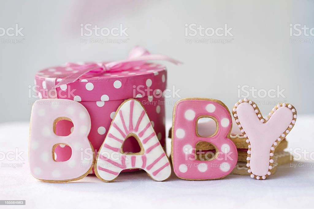 Baby shower cookies stock photo