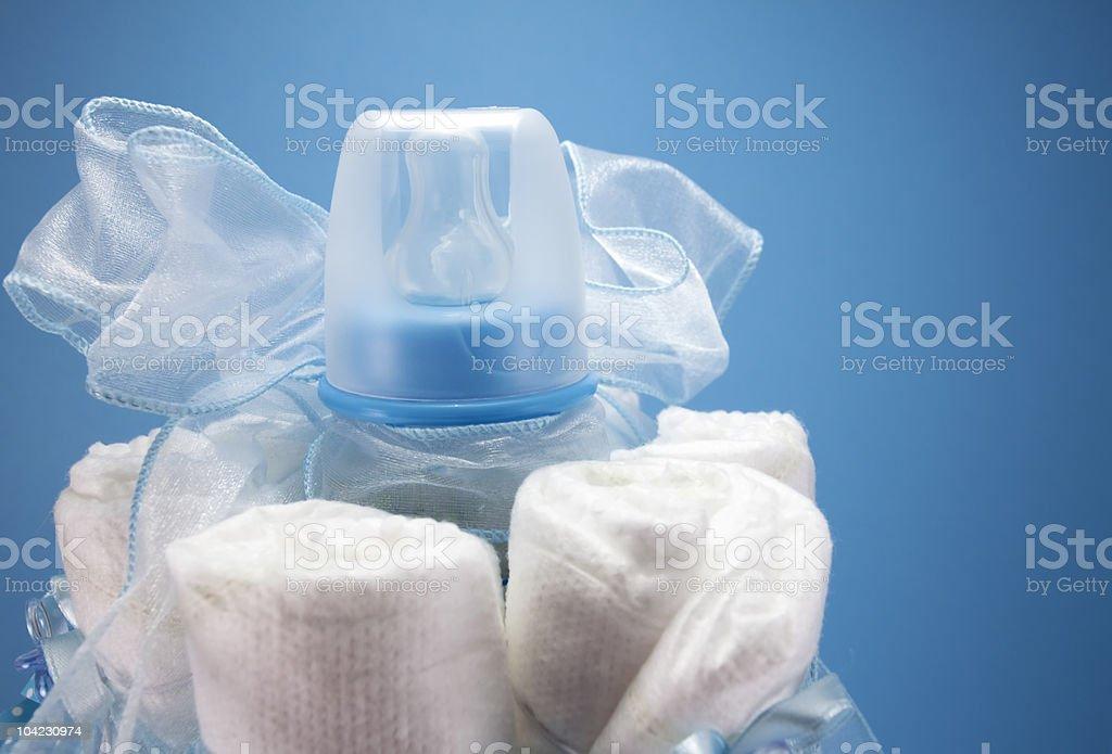 Baby Shower Diaper Cake royalty-free stock photo