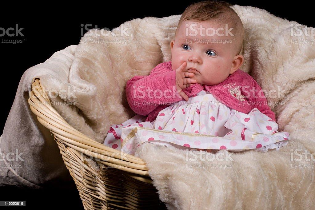 Bébé affiche attention photo libre de droits
