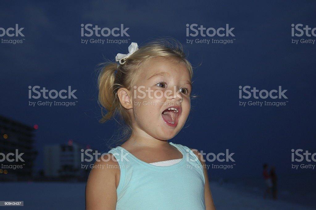 Bébé Chanter photo libre de droits