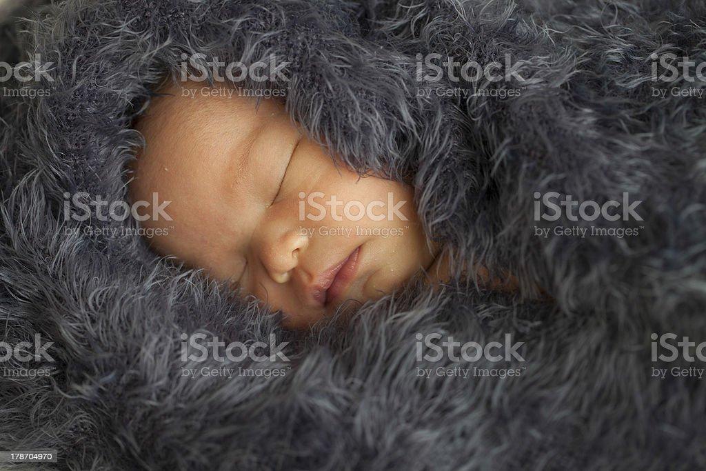 Baby sleep royalty-free stock photo