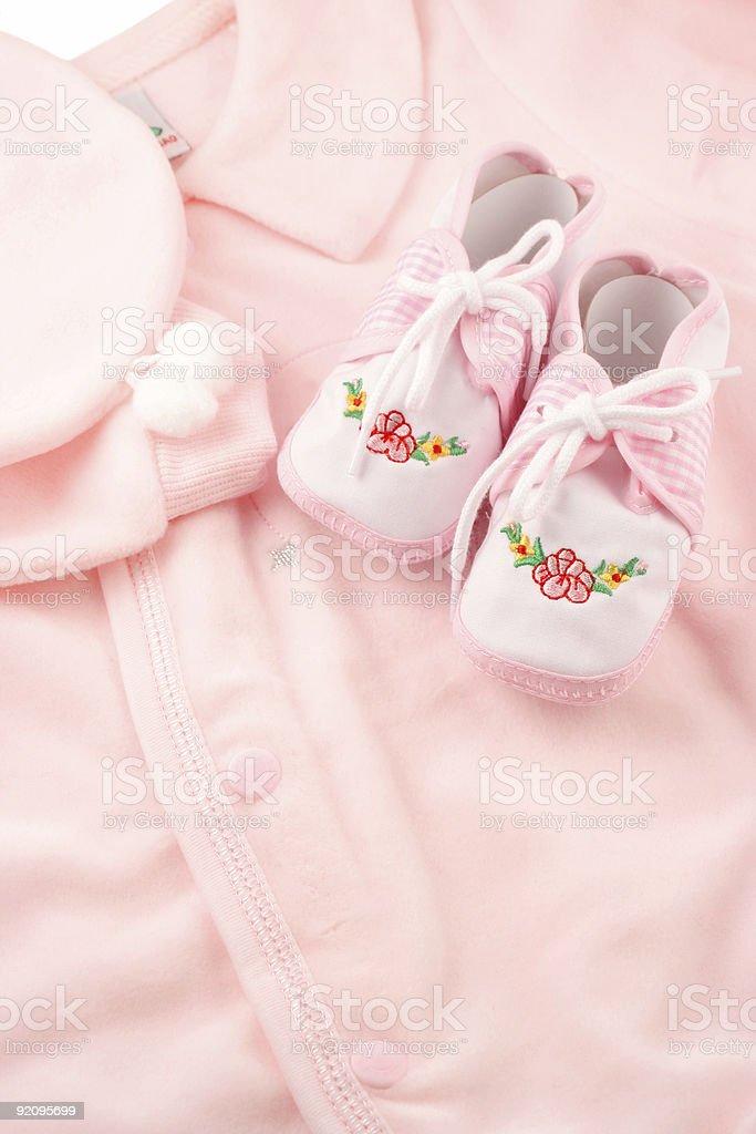 baby sleeper booties royalty-free stock photo