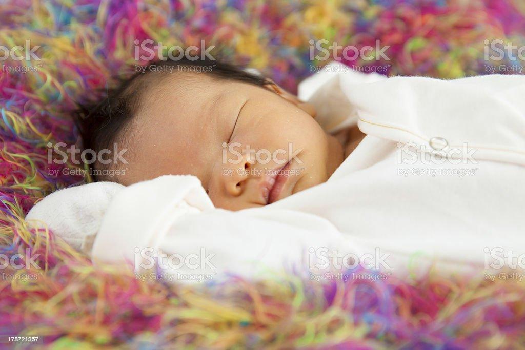 Baby sleeping royalty-free stock photo