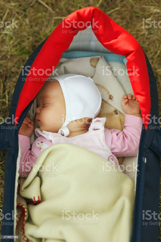 Baby sleeping royalty-free stock photo