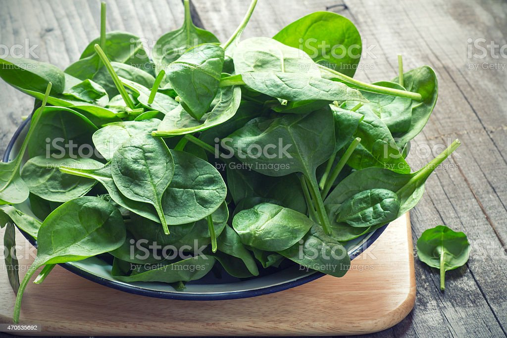 Baby Spinach stock photo
