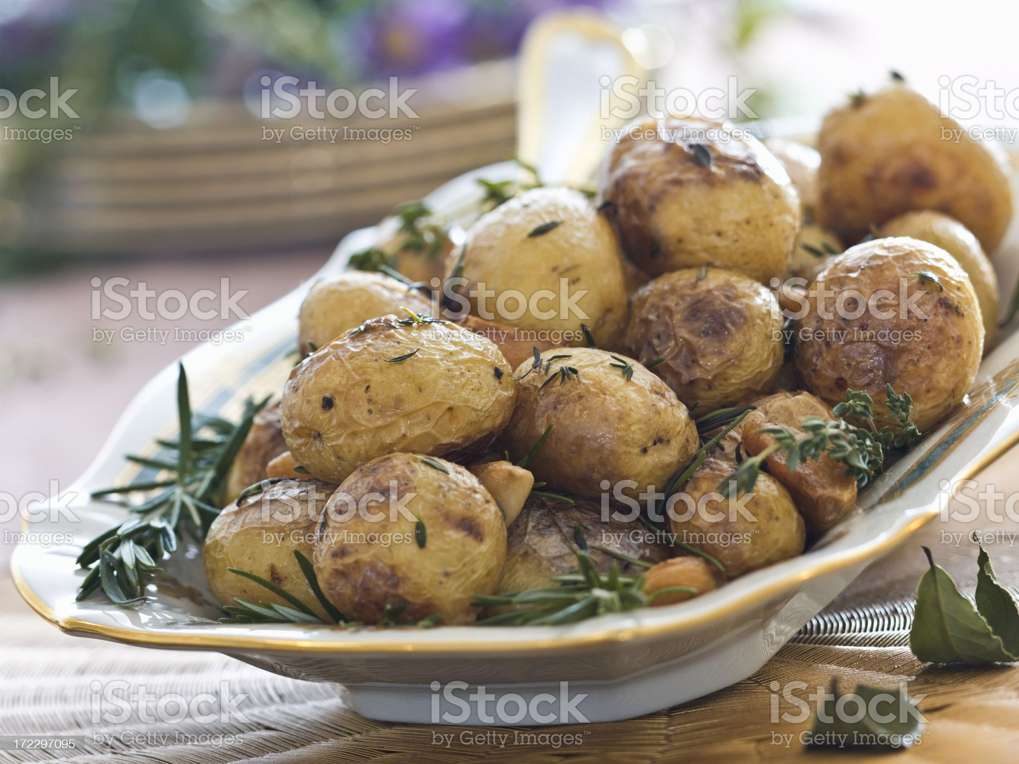 baby spuds, roasted royalty-free stock photo