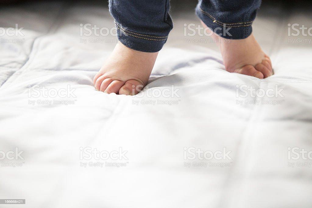 Baby Steps Walking stock photo