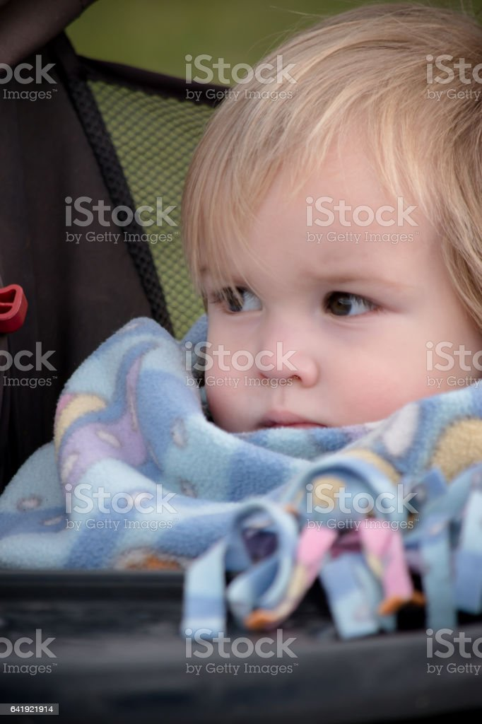 Baby stroller stock photo