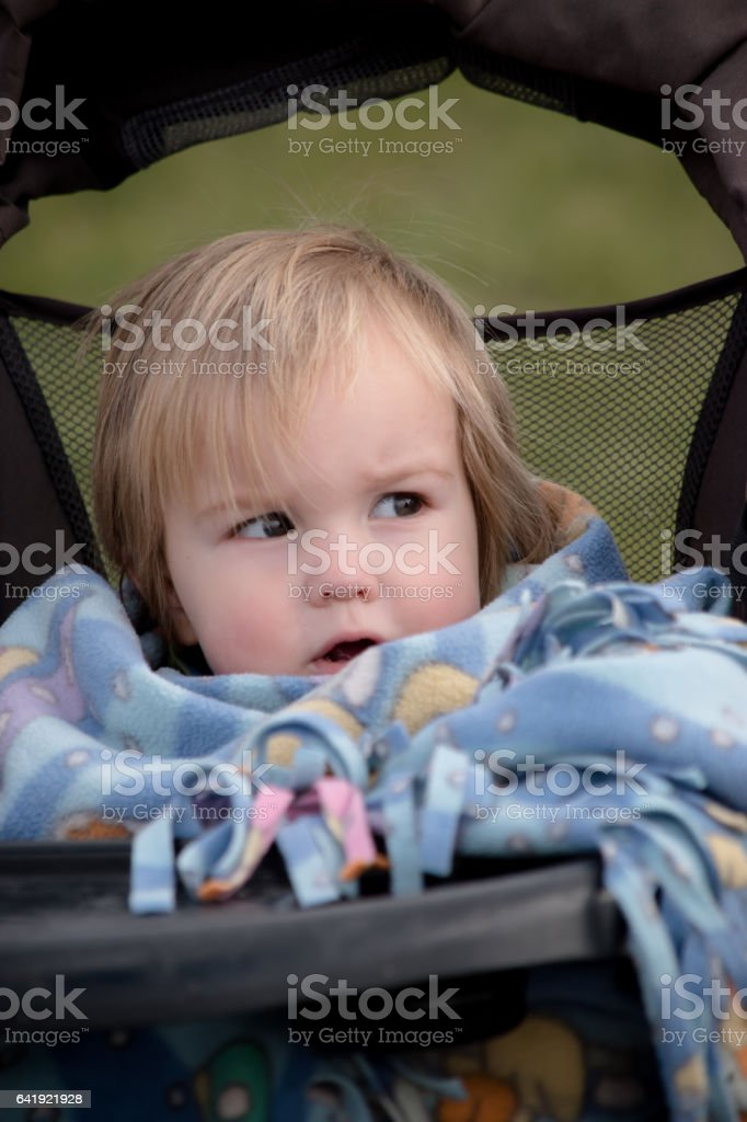 Baby stroller stock photo