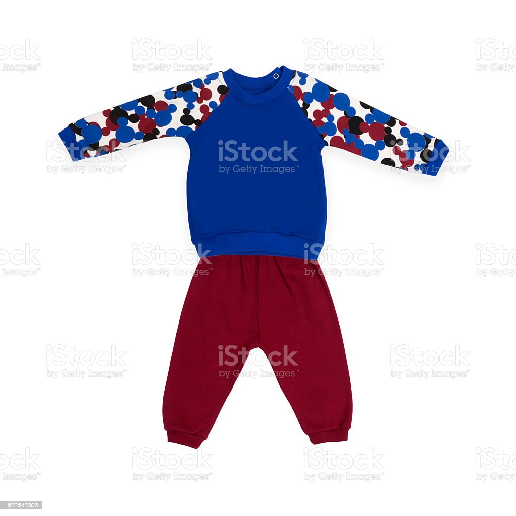 baby suit for boy stock photo