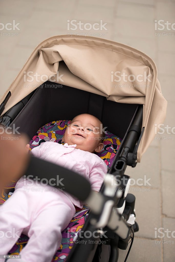Baby transport. stock photo