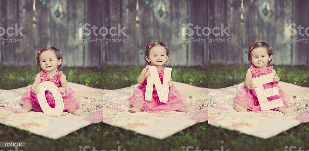 Baby Turns One stock photo