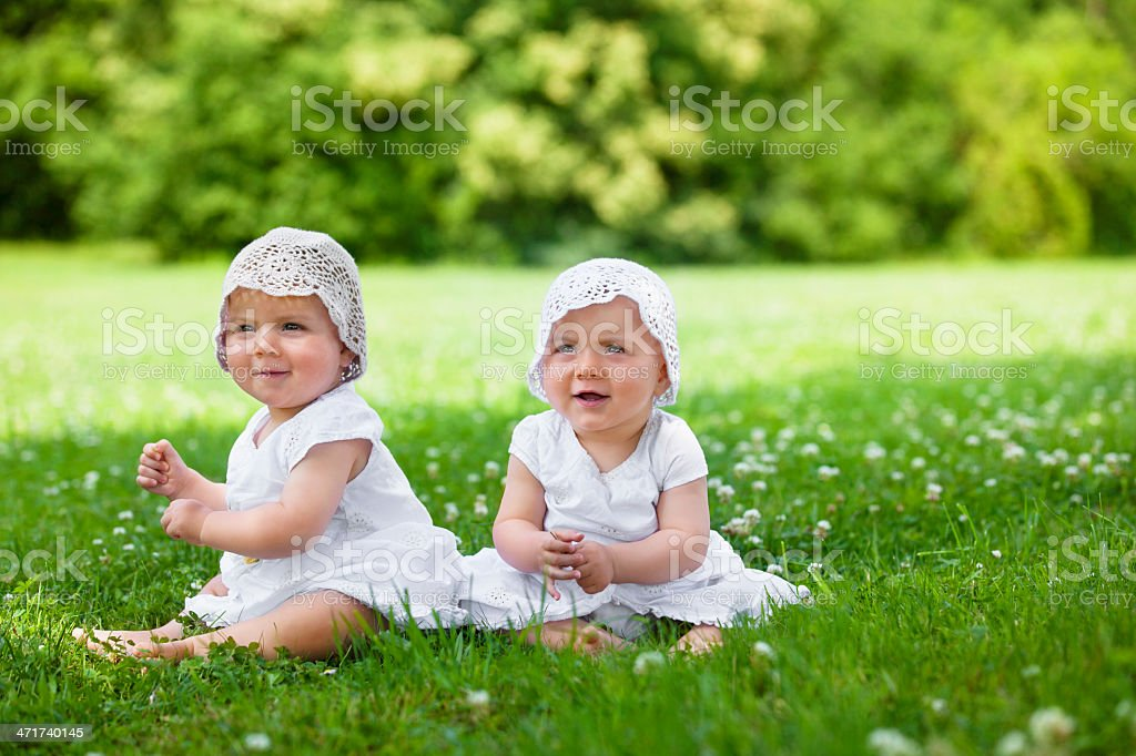 baby twins royalty-free stock photo