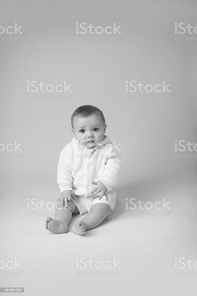 Baby Wearing A Cute Sweater royalty-free stock photo