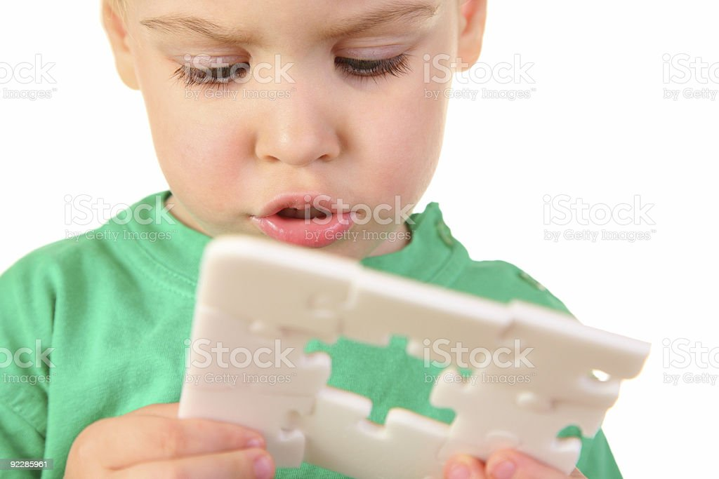 baby with hole puzzle royalty-free stock photo