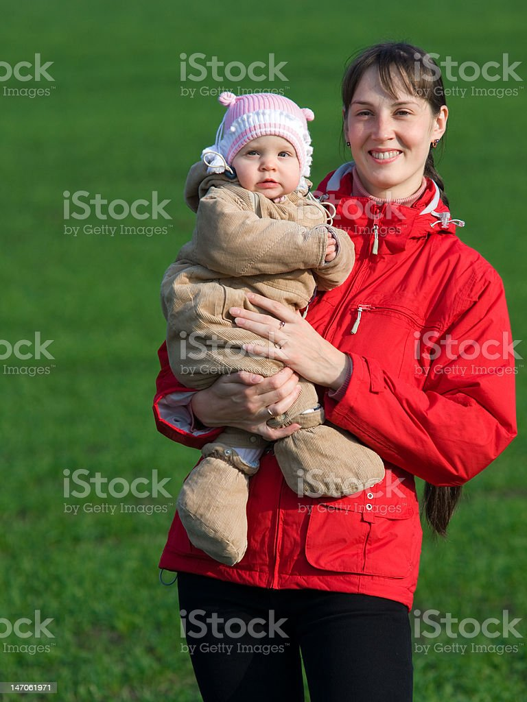 Baby with mom royalty-free stock photo