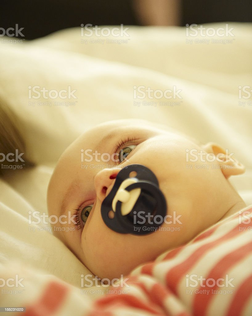 Baby with Pacifier royalty-free stock photo