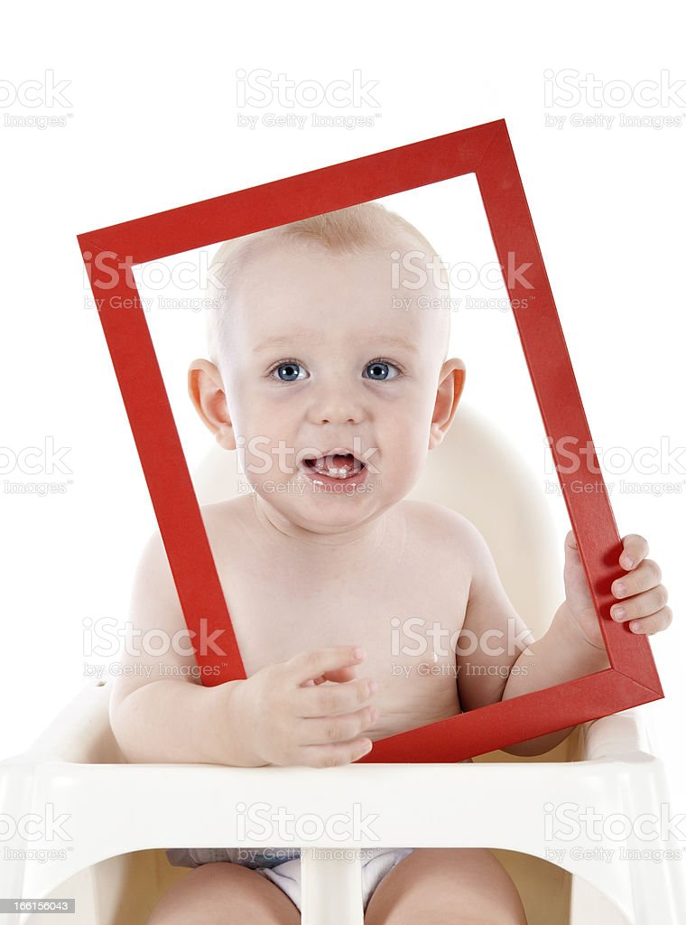 baby with picture frame royalty-free stock photo