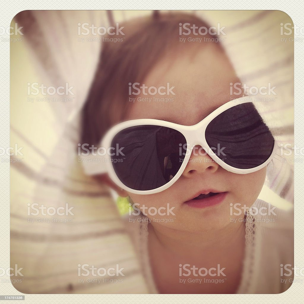 Baby with Sunglasses stock photo